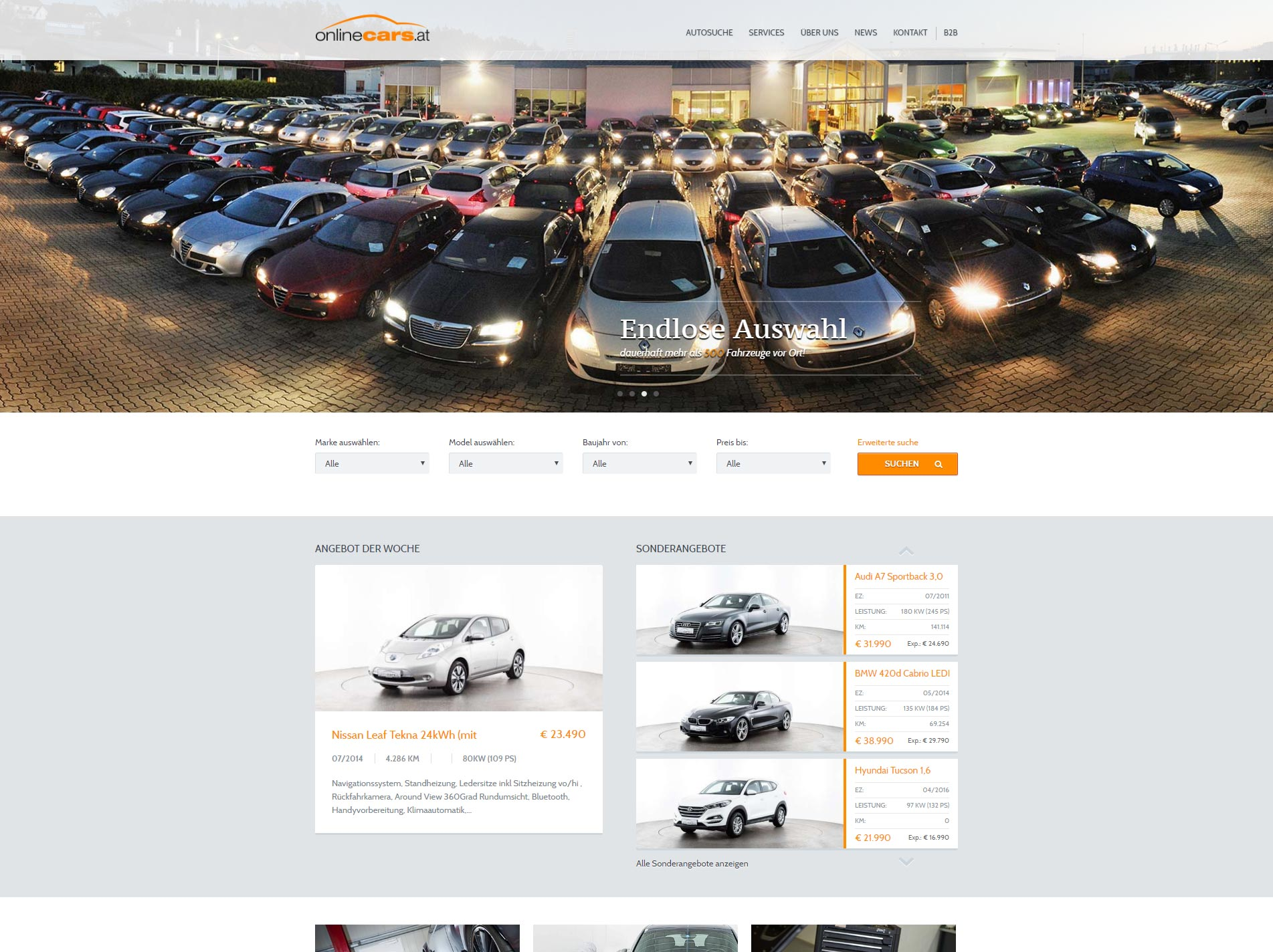 Onlinecars Website