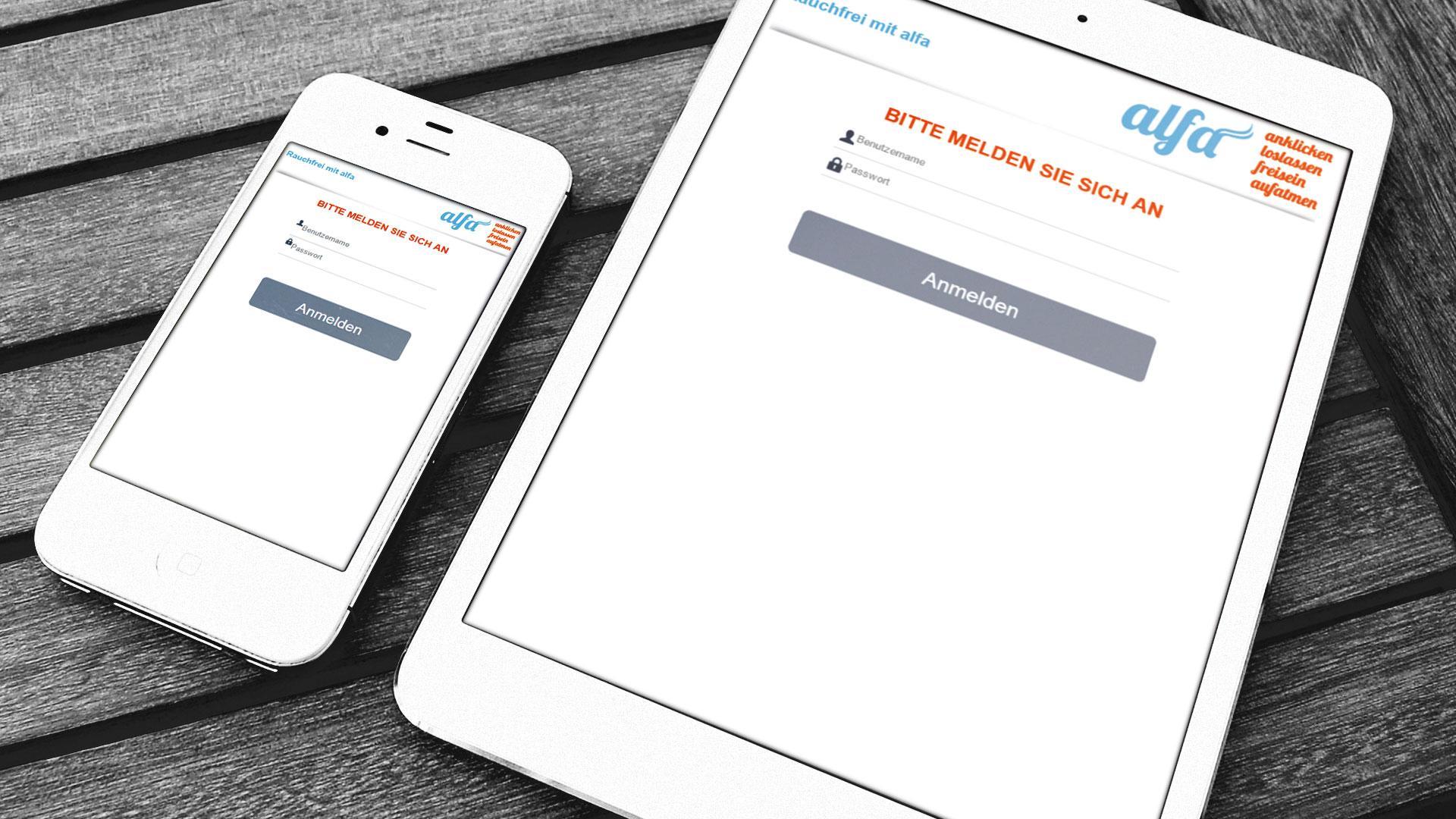 Alfa Wendepunkt Rauchfrei App