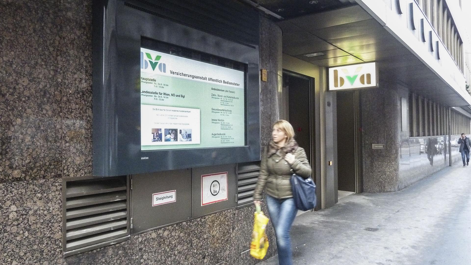 BVA Wien Digital Signage