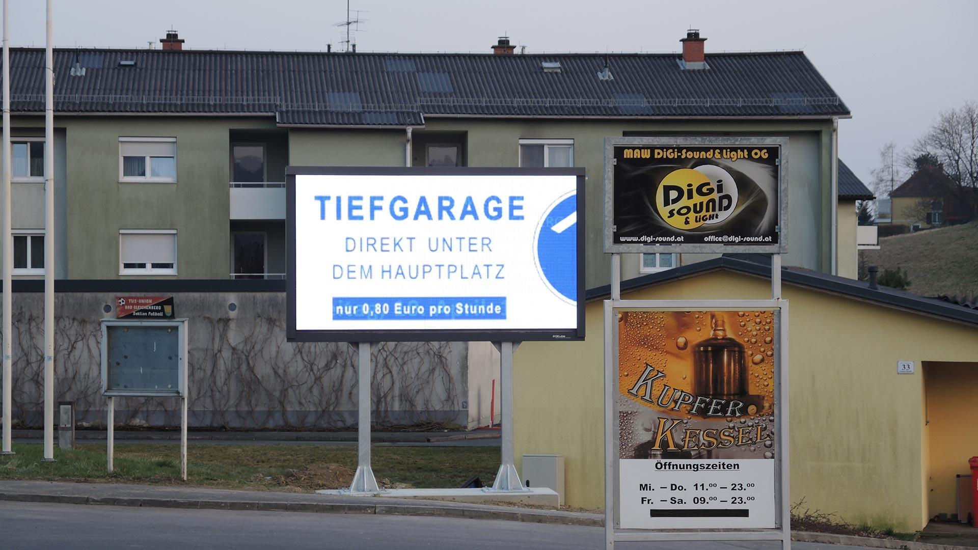 Gleichenberg Halle Videowall