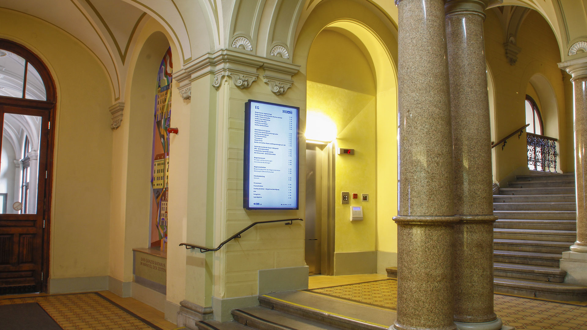 Graz Rathaus Digital Signage