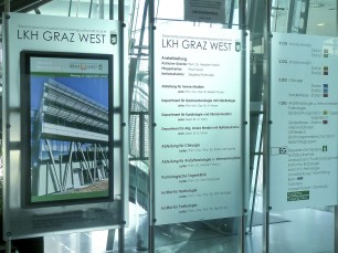 LKH Graz West Digital Signage