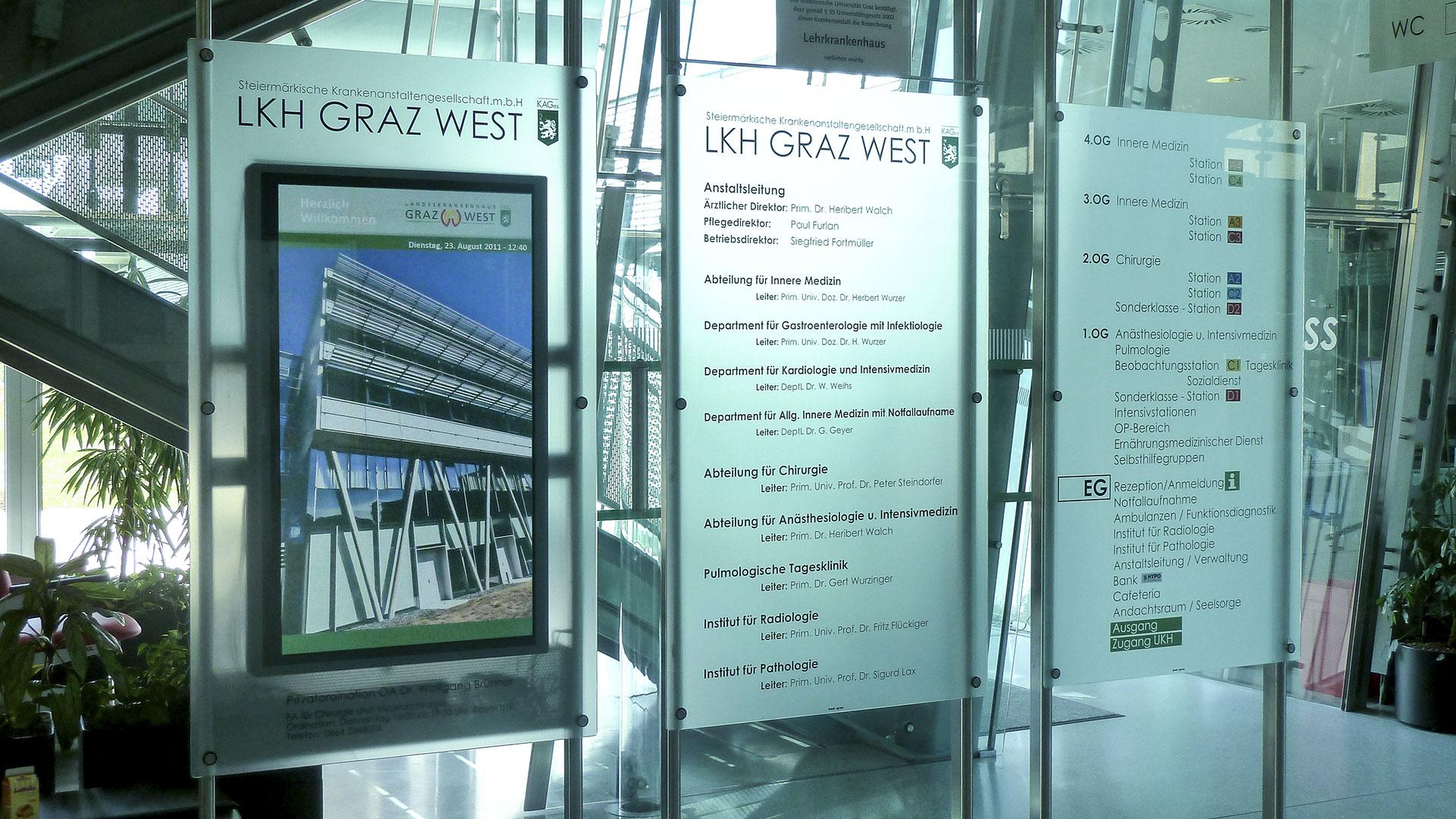 LKH Graz West Digital Signage