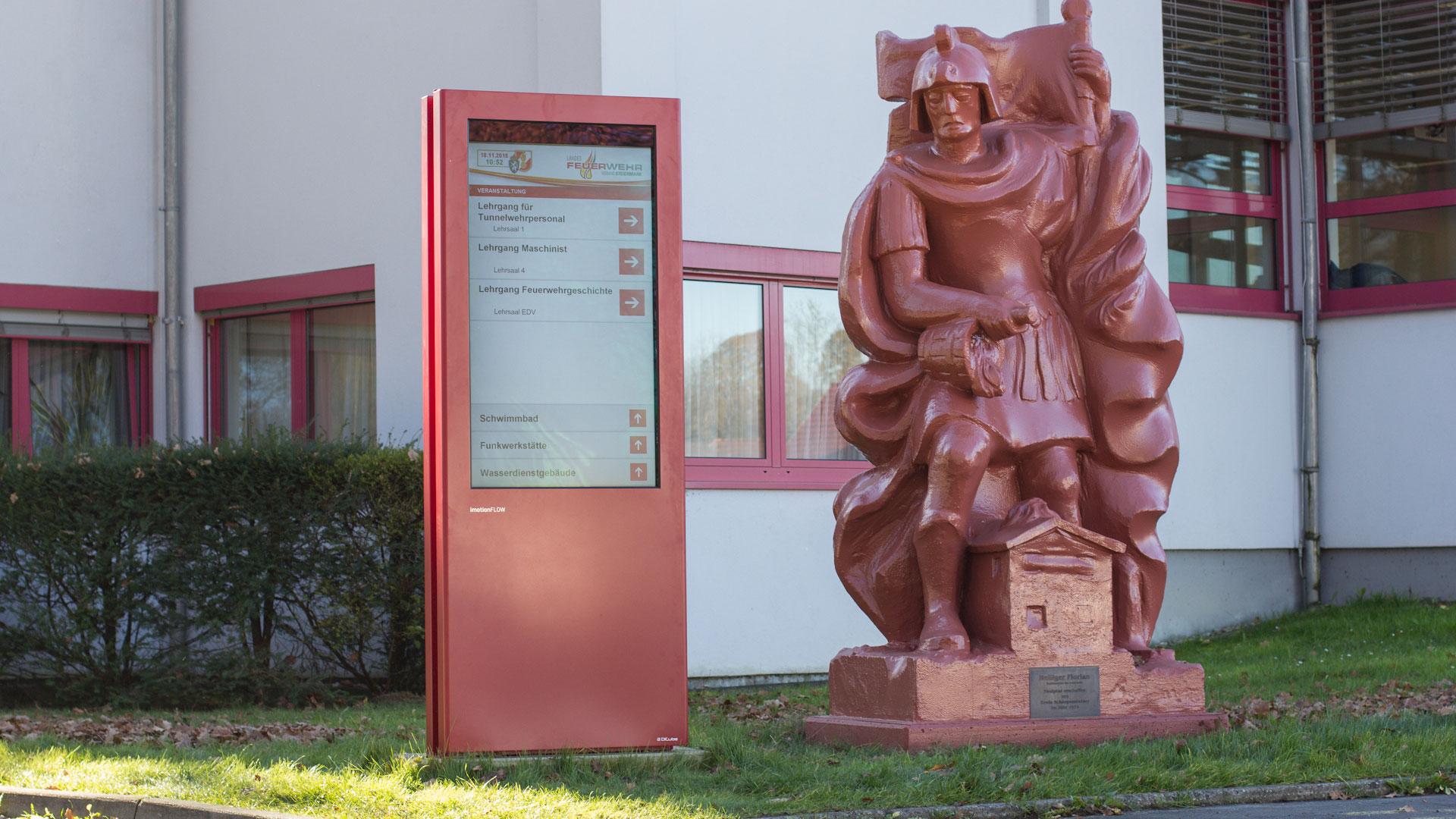 Landesfeuerwehrschule Wegeleitsystem Outdoor