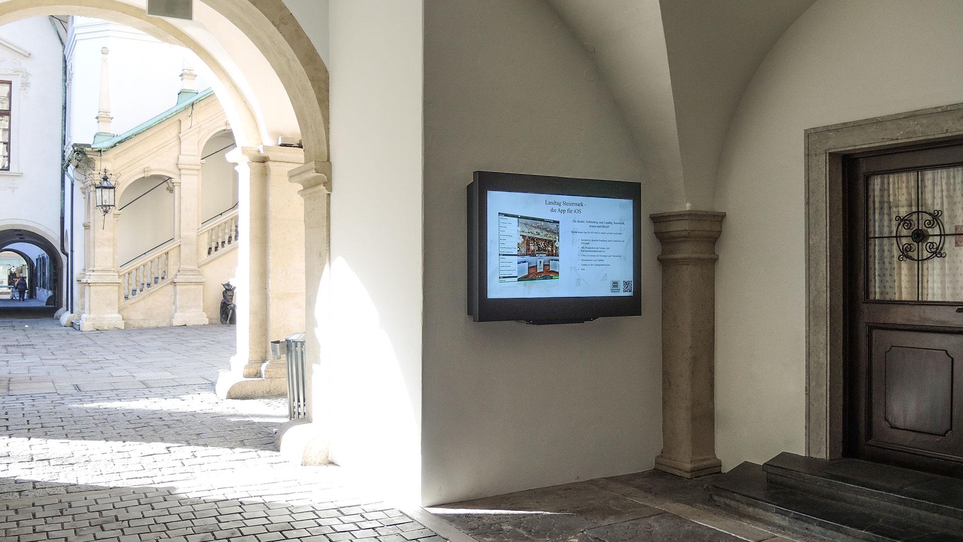 Landhaushof Graz Digital Signage