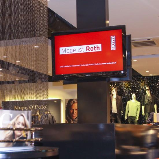 Modehaus Roth Digital Signage