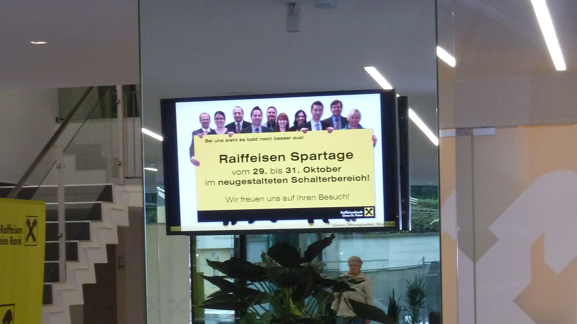 Raiffeisen Graz St. Peter Indoor Digital Signage