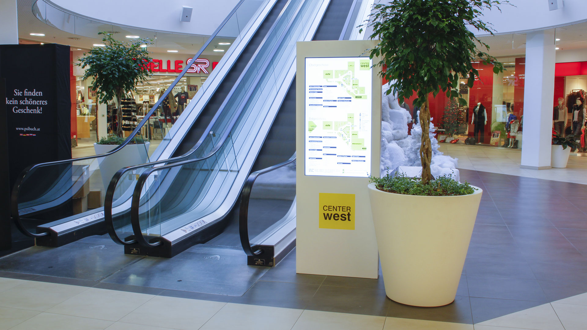 Shopping Center West Graz Digital Signage